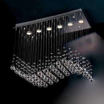 NEW Modern Wave Crystal Pendant Light Ceiling Lamp Chandelier Lighting Evrosvet