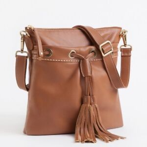 Roots French Tassel Italian Leather Handbag Excellent