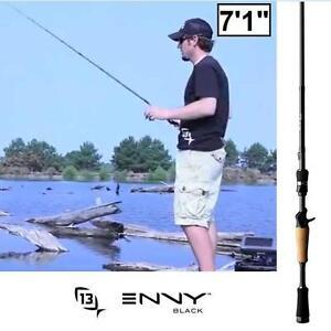 "NEW* 13 FISHING ENVY 7'1"" BLACK ROD - 111292417 - H POWER CRACNKING CASTING RODS TACKLE BAITCASTER BAITCASTING HUNTIN..."