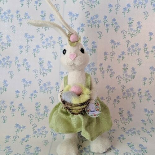 NEW Pier 1 Imports Felt Easter White Bunny Rabbit Gracie Figure Decor
