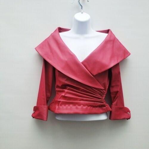 Tadashi Rose Pink Surplice Neckline Gathered Waist Size 6