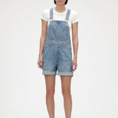 GAP shortall overalls Xxl denim shorts distressed