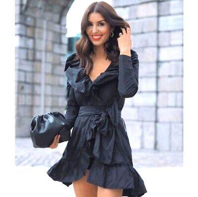 Sandra Mansour x H&M size Large Ruffled Dress Bloggers Favorite New