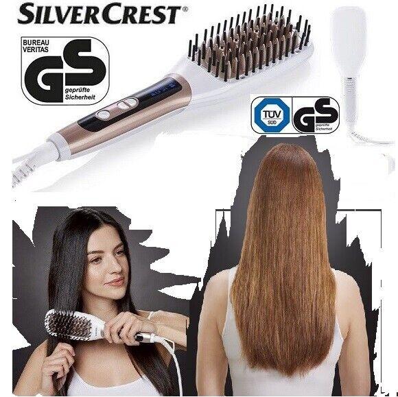 Silvercrest Ionen Haarglättungsbürste Haarglätter Glätteisen Haare Glätter NEU