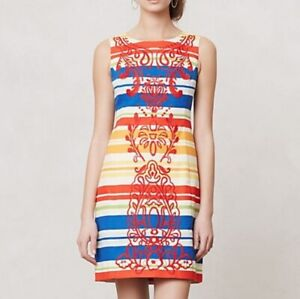 Size 2 Anthropologie Banded Totem Shift Dress Sheath (Tags on)