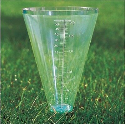 Clear Plastic Ground Rain Gauge Meter Measure Watering Level Weather Rainfall