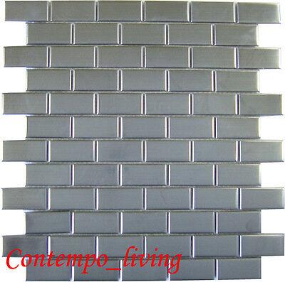 Stainless Steel Rectangular Mosaic Tile For Kitchen