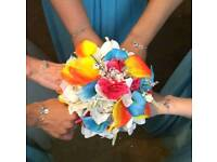 Artificial wedding bouquets x4