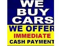 Instant cash paid for cars, vans, 4x4s, MPVs, caravans, motorhomes etc.