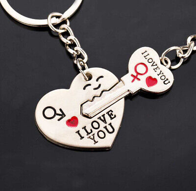 I Love You best romantic gift for him or her keyrings for couples