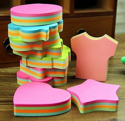 100 Pages Lovely Self Stick Bookmark Marker Memo Post It Tab Flag Sticky Notes