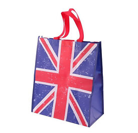 UNION JACK Flag Reusable Durable Strong Laundry Storage Lightweight Shopping Bag