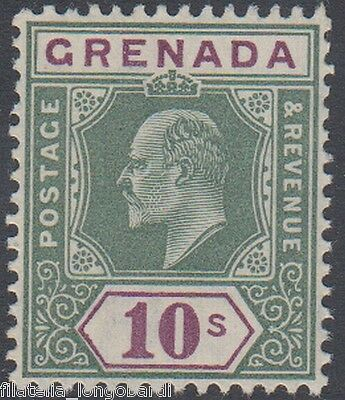 GRENADA stamps 1906 EDWARD VII 10s. green and purple SG.76  MNH (F30)
