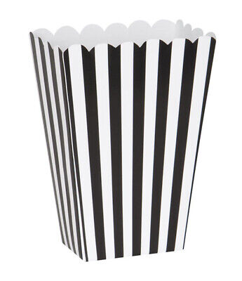 BLACK AND WHITE STRIPES FAVOR BOXES (8) ~ Birthday Party Supplies Treat Goody](Birthday Black And White)
