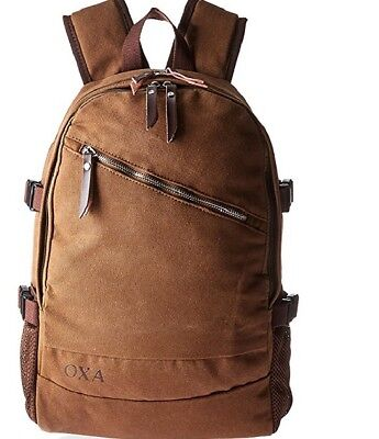 (OXA Canvas Laptop Backpack, Brown)