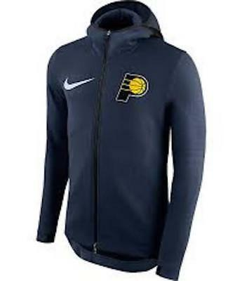 Nike Therma Men's Basketball Zip Hoodie Jacket Blue Size M NBA Indiana Pacers for sale  Evansville