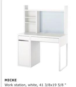 Used IKEA MICKE Work station