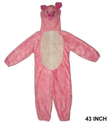 KIDS PLUSH PIG COSTUME piglet dress up suit halloween cute children dressup pigs