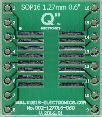 Adapterplatine Fr So16sop16soic16 Mit 1.27mm Auf Dip16 0.6 Sockel. De
