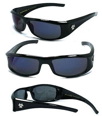 Free Pouch Hot BioHazard Men Sunglasses Black //Clear #BZ01