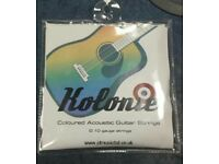 Kolonie Coloured Acoustic Guitar Strings