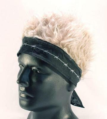 BANDANA HAT WITH SPIKED UP BLONDE HAIR billy bob cap funny MENS WOMENS fake wig - Funny Hats With Hair