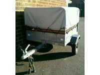 Trailer Erde 101 with high extension cover