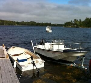 Boston Whaler 17' Montauk, 90 HP Evinrude, Trailer, GPS