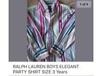 RALPH LAUREN BOYS SHIRT 3 Years like NEW