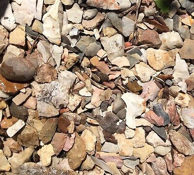 Small Flat Rate Box Full Midwest Mitch Lewis Rock Grarden Authentic Arrowheads