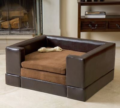 Raised Dog Bed Large Elevated Sofa Pet Puppy Home Couch Cushy Animal Furniture