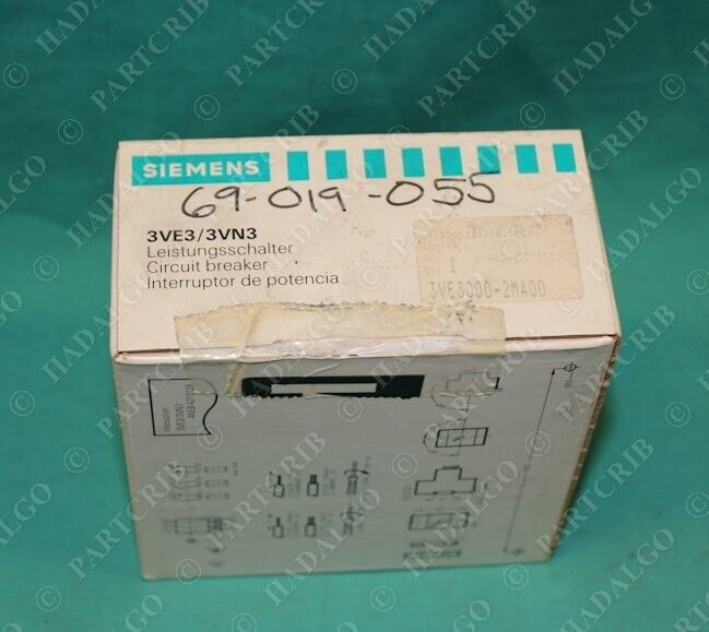 Siemens, 3VE3000-2MA00, 3VE3/3VN3, Circuit Breaker Furnas Manual Starter Motor P