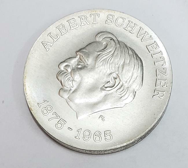 10 Mark Albert Schweitzer 1975-A D.R. Germany Ag BU