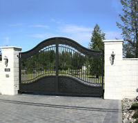 Security window bars and estate gates