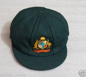 AUSTRALIA TEST GREEN BAGGY Cricket CAP -TEST CLASSIC MELTON BAGGY GREEN CAP