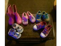 Bundle of girls shoes