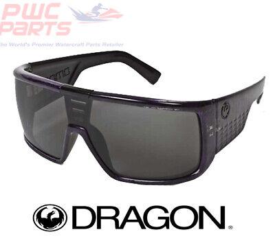 DRAGON DOMO Purple Concrete w/ Logo w/ Gray Lens Sunglasses (Domo Dragon)