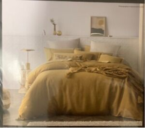 Kirkton linen quilt cover set QUEEN size