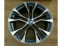 "*NEW* SET OF BMW 22"" PERFORMANCE ALLOY WHEELS 5X120 X3 X4 X5 X6 RANGE ROVER VW TOUAREG T5"