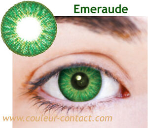 SALE: LENTILLES DE COULEUR EMERAUDE COLOR LENS VERRES CONTACT YEUX FONCES SMALL | eBay