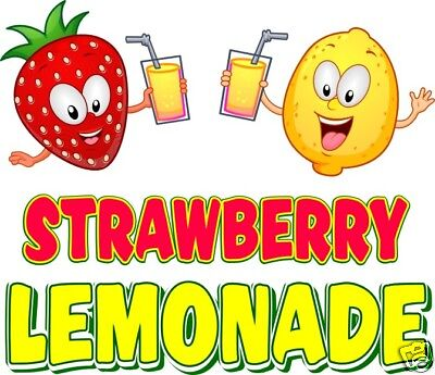 Strawberry Lemonade Decal 14 Food Truck Concession Menu Vinyl Sign Sticker