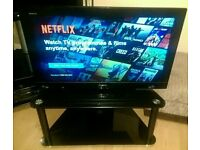 "Sony 32"" LCD TV With Glass Stand"