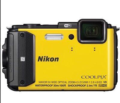 Nikon COOLPIX AW130 Waterproof Digital Camera (Yellow) BRAND NEW!!