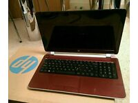 Red HP Pavillion 15in Notebook - 1TB HD, AMD Quad Core Processor, 8GB RAM - Like New