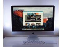 Late 2015 27 Apple iMac 5K i7 6700k 4.0hz 8GB RAM 3TB FUSION HDD 4GB M395X GPU