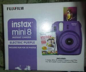 Brand new Fujifilm Instax Mini 8 Instant Camera (Purple)
