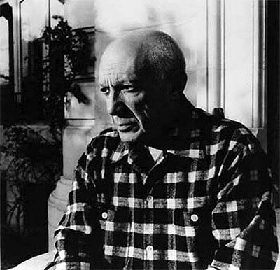1955 Lucien Clergue Signed Photograph of Picasso
