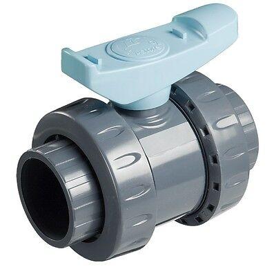 Valvola a sfera in PVC bighiera  incollaggio diametro 63 irrigazione piscina