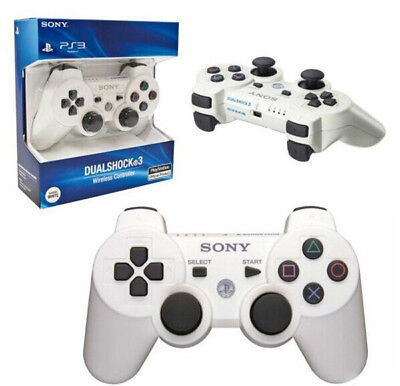 NEW Original Replacement Sony PS3 Wireless Dualshock 3 Controller - WHITE