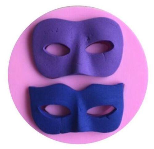 Masquerade Mask Silicone Mold for Fondant Gum Paste Chocolat